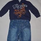 6 - 9 месяцев Обалденные штаны джинсы для мальчика утепленны