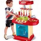 Детская кухня в чемоданчике со звуковыми и световыми эфектами