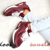 Женские кроссовки Air Max цвета марсала