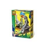 Ses набор для создания гипсовой фигурки динозавр T-Rex гипс, формочка, краски, кисточка
