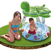 Детский надувной бассейн 57119 с навесом