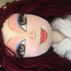 Кукла текстильная шарнирная (ручная работа) Эммилия