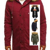 Шикарная зимняя мужская куртка парка четыре цвета