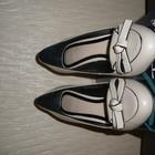 Красивые стильные кожаные туфли 37 р. Respect