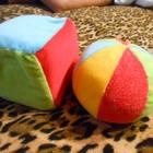 Мягкий мячик и кубик Canpol Babies