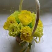 """Композиция из конфет """"Желтые розы"""". Сладкий подарок!"""