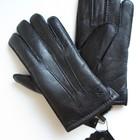 Разные размеры Мужские перчатки из оленьей кожи на натуральном меху овчины