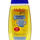 Шампунь для детей Malizia Baby с экстрактом ромашки 0+
