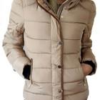 Куртка женская зимняя бежевая