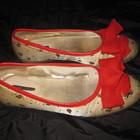 туфли балетки 37 р-р Peluso, божьи коровки, бантик
