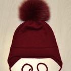 Детская шапка с помпоном, сезон весна-осень. Срок исполнения 2 недели.