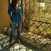 Джинсовая женская куртка парка весна-лето-осень