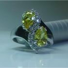 Серебро 925* Кольцо с натуральными ЦИТРИНами и ТОПАЗами!