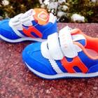 Кроссовки для мальчика с натурального замша  размер 22-13 см  синего цвета