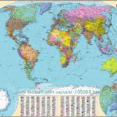 Світ. Політична карта Нові, великі