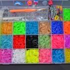 Ультра модный набор на 7000 резинок, для плетения браслетов, сувениров из разноцветных резиночек