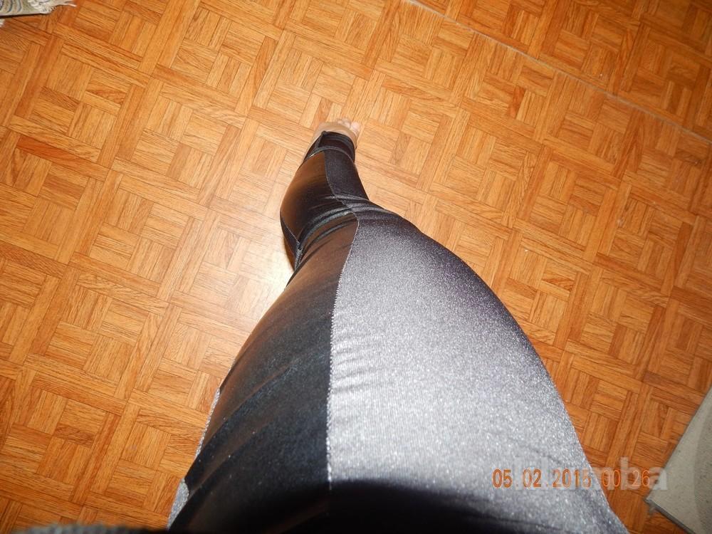 Лосины с кожаными вставками, по бокам, лосины кожа, кожанные лосины,+наложка фото №6