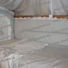 Детское постельное белье в кроватку с вышивкой и красивым балдахином