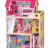 кукольный домик с мебелью для барби