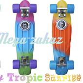 Скейтборд/скейт Penny Board Fades градиент/мультиколор (пенни борд): 4 цвета, нагрузка до 80кг