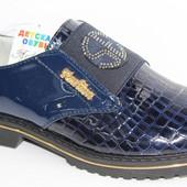 Модные подростковые лаковые туфли на платформе для девочки, р. 32-37, код 407