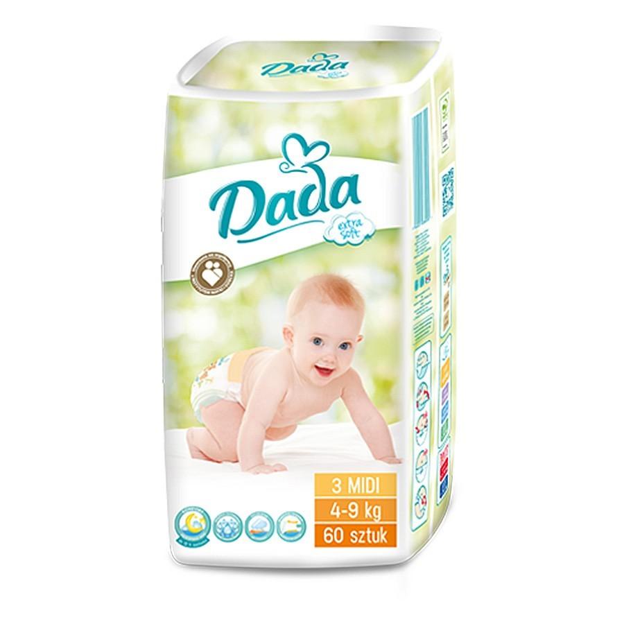 Подгузники dada extra soft памперсы дада екстра софт все размеры 2, 3, 4, 4+, 5, 5+ польша фото №2