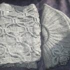 Набор берет и шарф в винтажном стиле на весну и осень комплект
