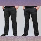 Новинка 2016! Демисезонные брюки джинсового кроя с косыми карманами. 2 цвета.