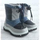 Дутики детские синие, серые, голубые. Сноубутсы мальчиковые водонепроницаемые. Обувь детская зимняя