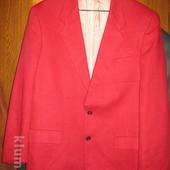 Пиджак льняной,р.50,красный,Португалия.Состояние нового.