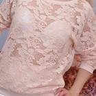 Нежная персиковая кружевная кофта, блуза Atmosphere, 12 (46 русск) размер