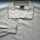 Винтажный свитер с воротником, джемпер, советское качество, размер M.