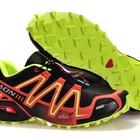 Кроссовки Salomon Speedcross 3 - черный+салатовый