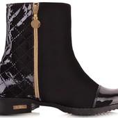 Лаковие женские весенние ботинки,сапожки лаковие весенние