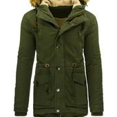 Мужская зимняя куртка парка на меховой подкладке