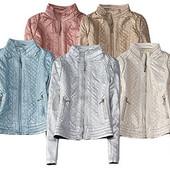 Молодежная женская весенняя куртка золото,серебро,перламутр