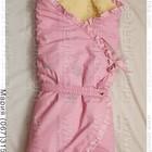 Конверт на выписку для девочки. Конверт-одеяло, конверт-трансформер розовый. Утепленный.