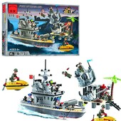 Конструктор 819 Военный корабль, Brick, 505 деталей