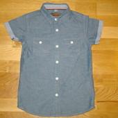 Фирменные рубашки на 7-8 лет р. 122-128 см сдлинным и коротким рукавом