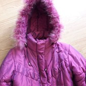 Теплое зимнее пальтишко 128/134