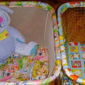 Детский манеж с мелкой сеткой и крупной сеткой, игровой центр