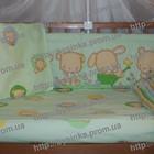 Защита и постельное в детскую кроватку - Мишка огородник