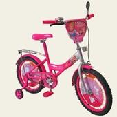 Велосипед Принцессы 16 дюймов, со звонком, зеркалом, 171622
