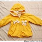 Ветровка на флисе. Демисезонный желтый плащ для девочки. Деми куртка желтого цвета. В наличии.