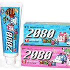 Детская зубная паста 2080 Organic Kids со вкусами банана и клубники