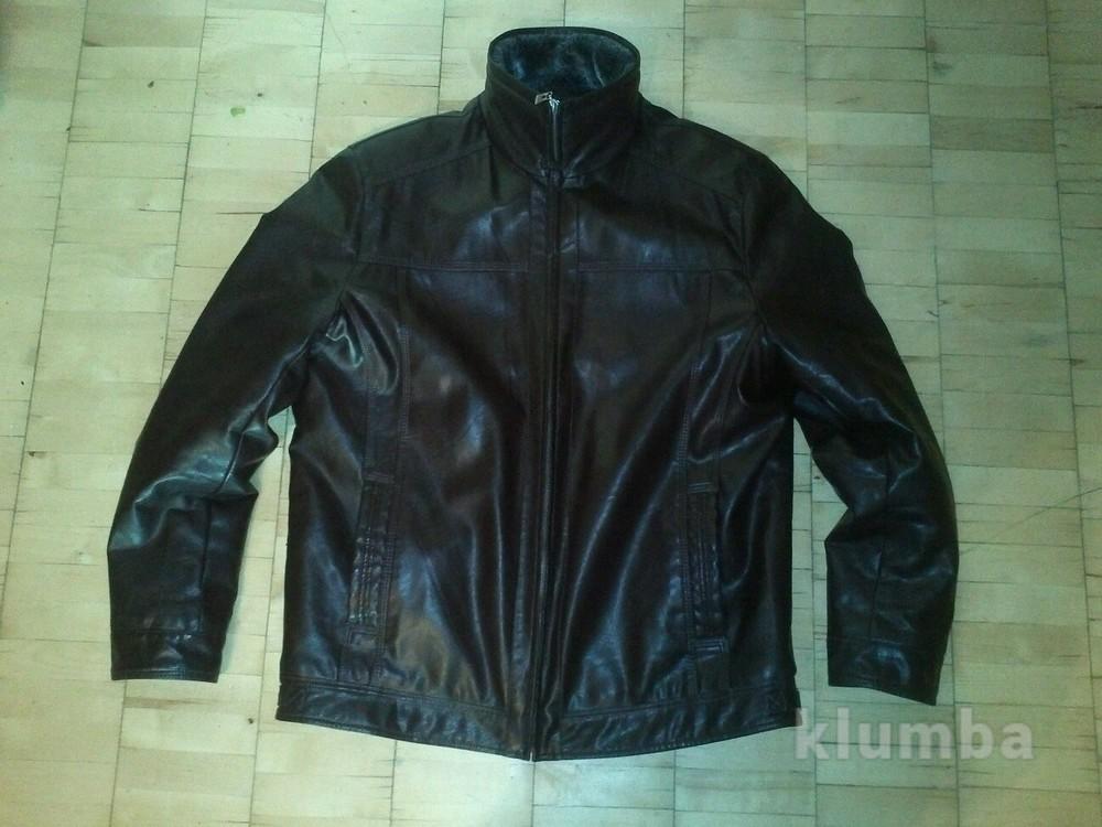 Мужская кожаная куртка на иск.меху  (качественный кожзам) фото №1