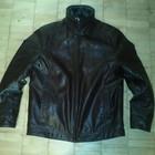 Мужская кожаная куртка на иск.меху  (качественный кожзам)