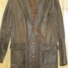 Отличный французский кожаный пиджак 50 р.
