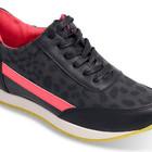 Женские стильные яркие кроссовки с леопардовым принтом