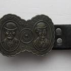 Ремень кожаный с оригинальной металлической пряжкой